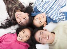 Gelukkige Aziatische familie Stock Foto