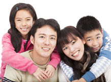Gelukkige Aziatische familie stock fotografie
