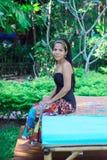 Gelukkige Aziatische vrouw. stock afbeelding