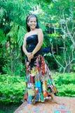 Gelukkige Aziatische vrouw. royalty-vrije stock foto's
