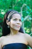 Gelukkige Aziatische vrouw. stock fotografie
