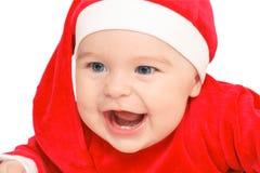 Gelukkige baby de Kerstman Royalty-vrije Stock Afbeeldingen