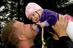 Gelukkige baby en vader Royalty-vrije Stock Afbeelding