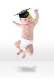 Gelukkige Baby Jumpign voor Vreugde Royalty-vrije Stock Afbeeldingen