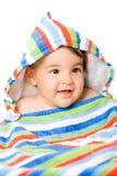 Gelukkige baby in kleuren Stock Foto
