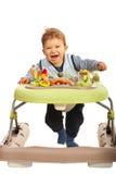 Gelukkige baby in leurder stock afbeeldingen