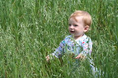 Gelukkige babyjongen Stock Foto's