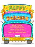 Gelukkige Baisakhi-achtergrond Stock Foto's