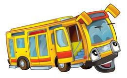 Gelukkige beeldverhaalbus Stock Afbeelding