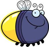 Gelukkige Beeldverhaalglimworm Royalty-vrije Stock Afbeelding