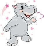 Gelukkige bekoorde hippo Stock Foto's