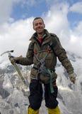Gelukkige bergbeklimmer Royalty-vrije Stock Foto's
