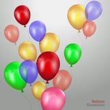 Gelukkige birthsday kaart met Partijelement Stock Foto