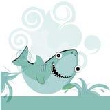 Gelukkige blauwe haai Stock Illustratie