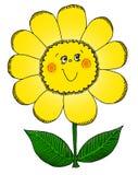 Gelukkige bloem Royalty-vrije Stock Foto's