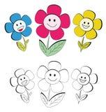 Gelukkige bloemen Stock Foto's