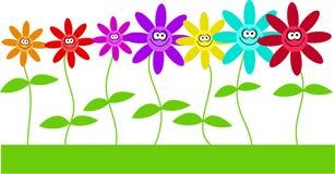 Gelukkige bloemen Royalty-vrije Stock Foto's