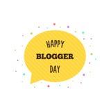 Gelukkige bloggerdag Vector illustratie Royalty-vrije Stock Foto's