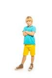 Gelukkige blonde jongen Stock Fotografie