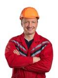 Gelukkige bouwer Stock Foto