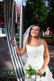 Gelukkige bruid Royalty-vrije Stock Afbeelding