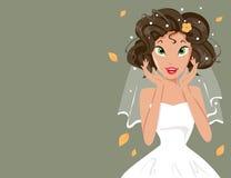 Gelukkige bruid Stock Foto's