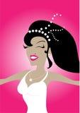 Gelukkige bruid royalty-vrije illustratie