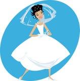 Gelukkige Bruid Stock Afbeeldingen