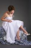 Gelukkige bruid royalty-vrije stock foto's