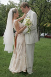 Gelukkige bruid en bruidegom Stock Fotografie