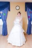 Gelukkige bruid thuis Royalty-vrije Stock Afbeelding