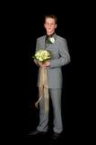 Gelukkige bruidegom royalty-vrije stock afbeelding
