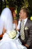 Gelukkige bruids Royalty-vrije Stock Fotografie