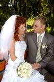 Gelukkige bruids Stock Afbeelding