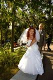 Gelukkige bruids Royalty-vrije Stock Afbeeldingen