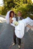 Gelukkige bruids Stock Fotografie