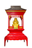 Gelukkige budha in heiligdom Stock Afbeelding
