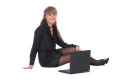 Gelukkige businesssvrouw Stock Afbeeldingen