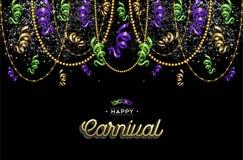 Gelukkige Carnaval-ontwerpdecoratie als achtergrond stock illustratie