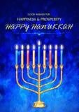 Gelukkige Chanoeka, Joodse vakantieachtergrond Royalty-vrije Stock Afbeeldingen
