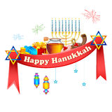 Gelukkige Chanoeka, Joodse vakantieachtergrond Royalty-vrije Stock Foto's