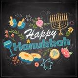 Gelukkige Chanoeka, Joodse vakantieachtergrond Stock Afbeeldingen