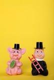 Gelukkige charme met schoorsteen-bereik Royalty-vrije Stock Foto