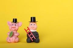 Gelukkige charme met schoorsteen-bereik Royalty-vrije Stock Afbeelding