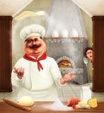 Gelukkige chef-kok Royalty-vrije Stock Foto