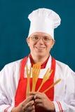 Gelukkige chef-kok Stock Afbeelding