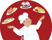 Gelukkige chef-kok Stock Foto