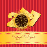 Gelukkige Chinese nieuwe jaar 2017 kaart Stock Afbeeldingen