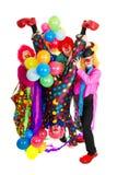 Gelukkige clowns royalty-vrije stock fotografie