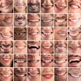 Gelukkige collage royalty-vrije stock afbeeldingen